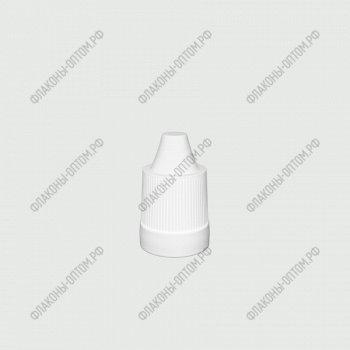 Флаконы ПЭТ 10 мл с тонким дозатором и крышкой с защитой от детей Белая крышка