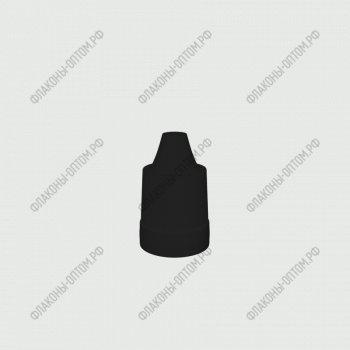 Флаконы ПЭТ 10 мл с тонким дозатором и крышкой с защитой от детей и контролем первого вскрытия  Черная крышка